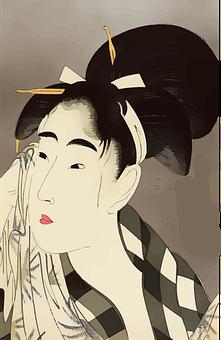 Woman, Asian, Face, Japan, Lady