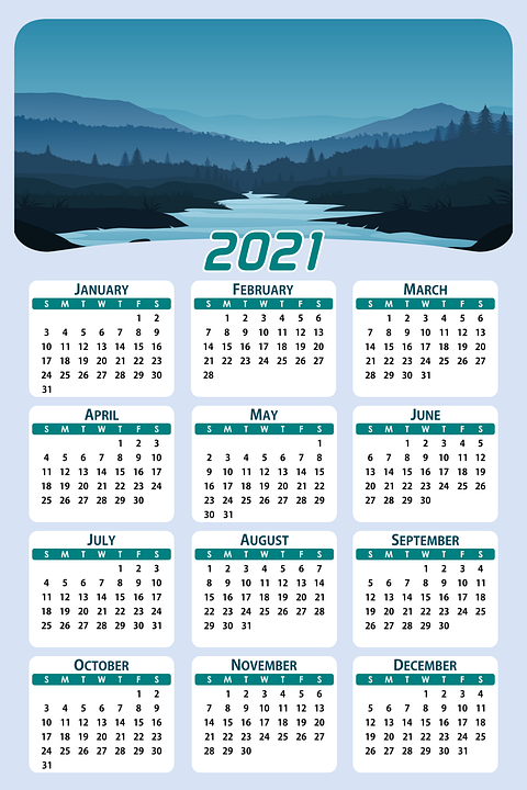 Images of Calendar Date 2021