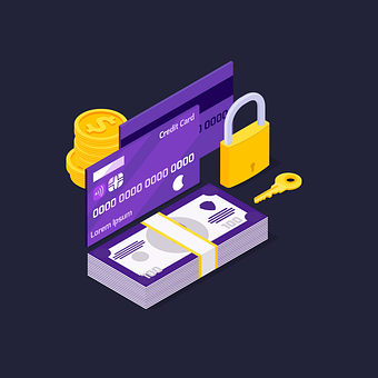 Lock, Security, Credit Card, Infographic