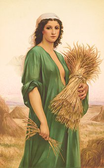 Woman, Wheat, Farm, Field, Girl, Lady