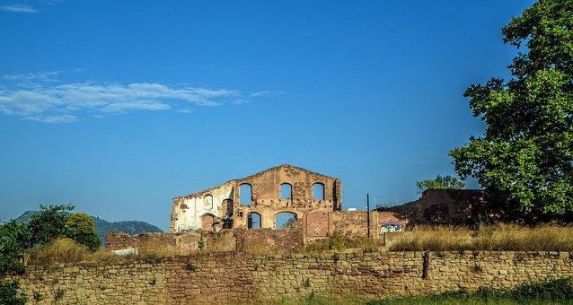 廃墟, 工場, 崩壊, 繊維, 古い, 業界, 放棄された, 年齢, 壊れた