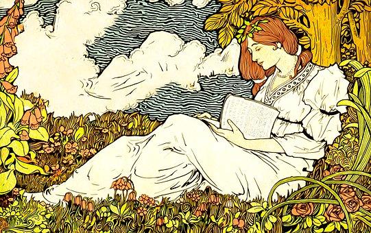 Woman, Reading, Gypsy, Bohemian, Girl