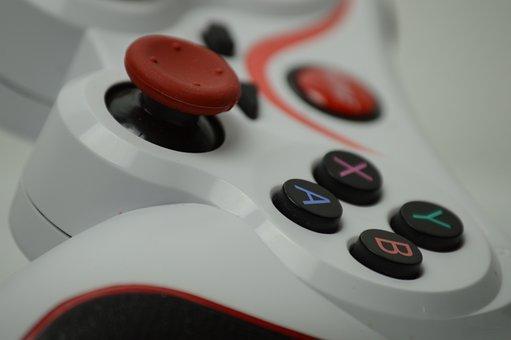 コントローラ, ボタン, ジョイスティック, ゲーム, ビデオ ゲーム, 再生