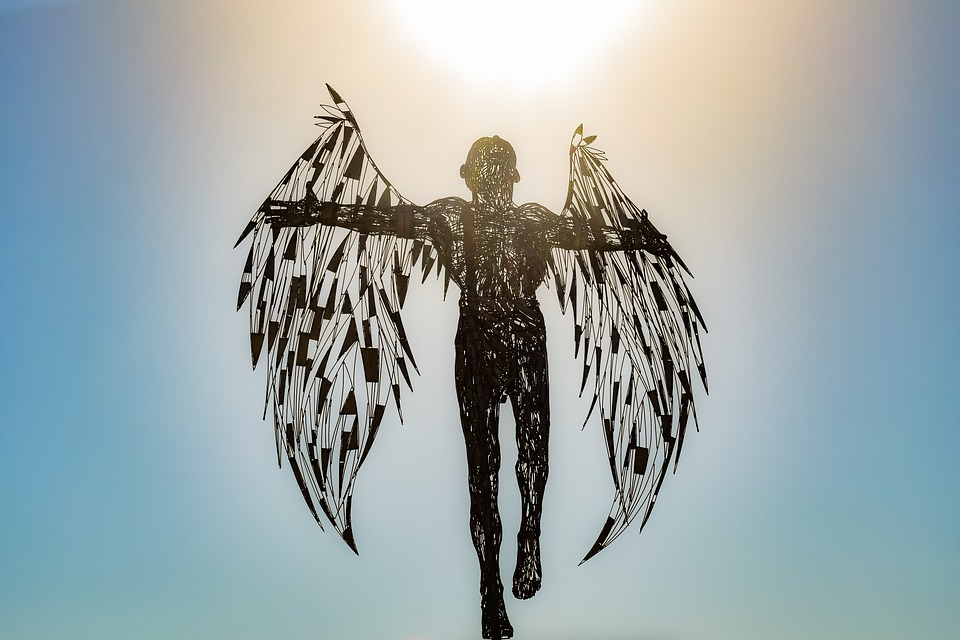 Angel, Statue, Sculpture, Wings, Metallic, Icarus, Art