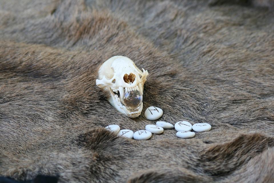 Skull, Skeleton, Medieval, Rune, Stone, Ancient, Celtic