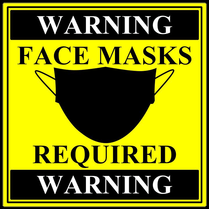 Sign, Warning, Advertisement, Face Mask, Mask, Covid-19