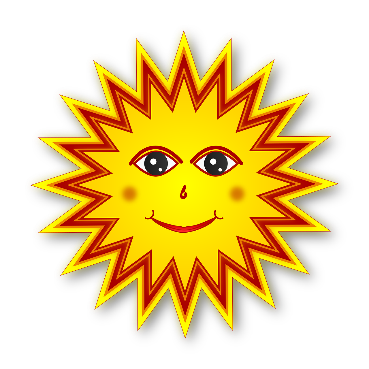 Sun Sunny Sunshine - Free vector graphic on Pixabay