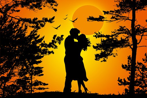 Couple, Silhouette, Love, Romantic