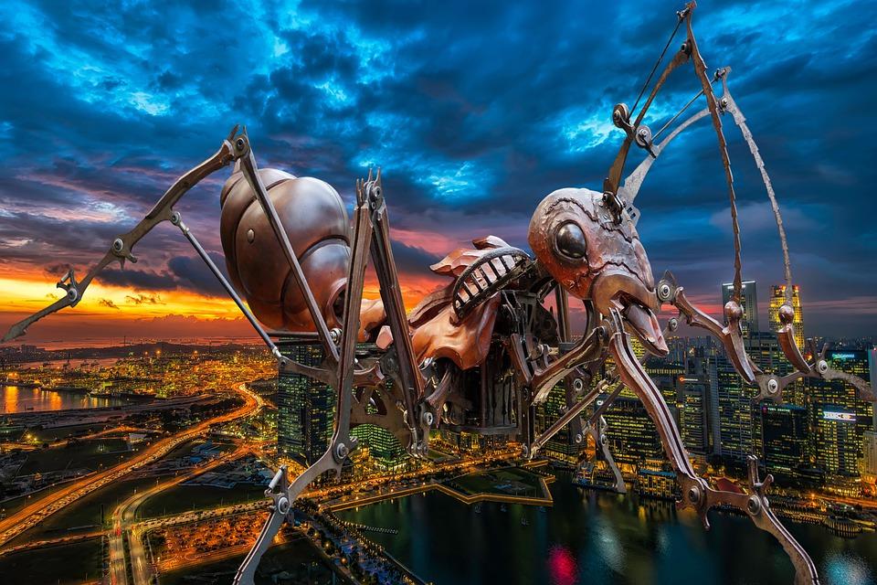 Mravenec, Obr, Teror, Město, Fantazie, Útok, Nebezpečí