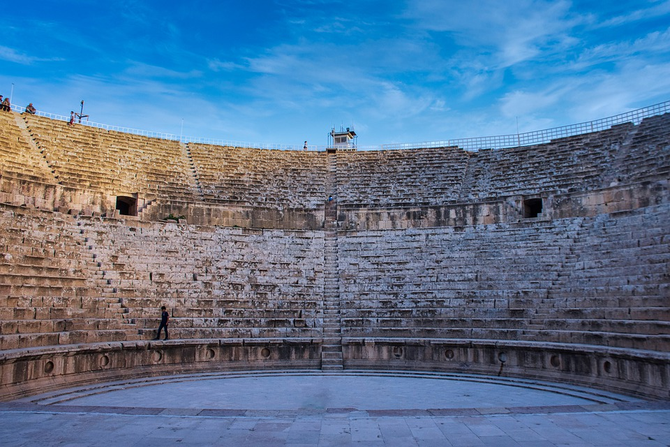 Theatre, Stairs, Castle, Building, Stone, Old, Ancient