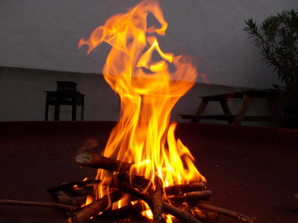 Dangerous open fire