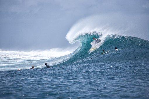 サーフ, サーフィン, 大きな波, サーファー, スプラッシュ, インド洋