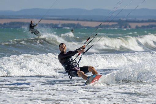 Extreme, Kite, Wind, Sport, Kitesurfing