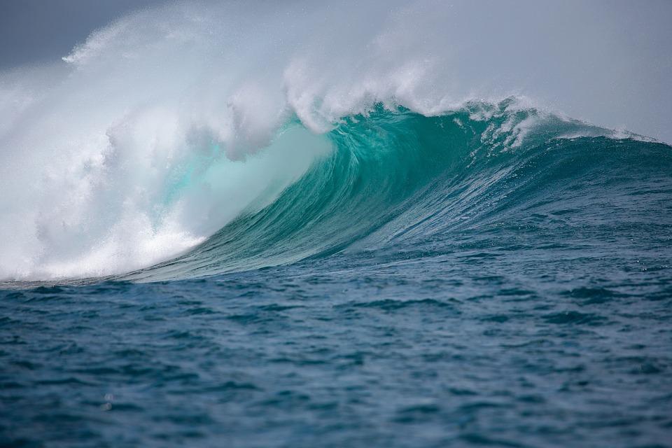 Mare, Wave, Splash, Grande Onda, Ocean, Acqua