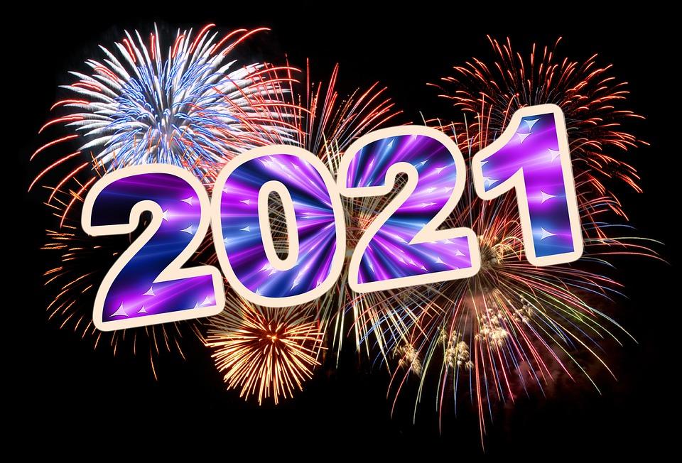 新しい年, 新しい年の前夜, 花火, 年, 2021, 祝賀, 新年の日