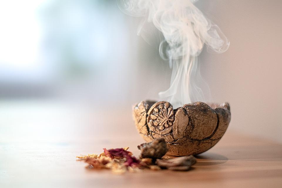 Fire Bowl, Shell, Smoke, Herbs, Resins, Raeucherschale