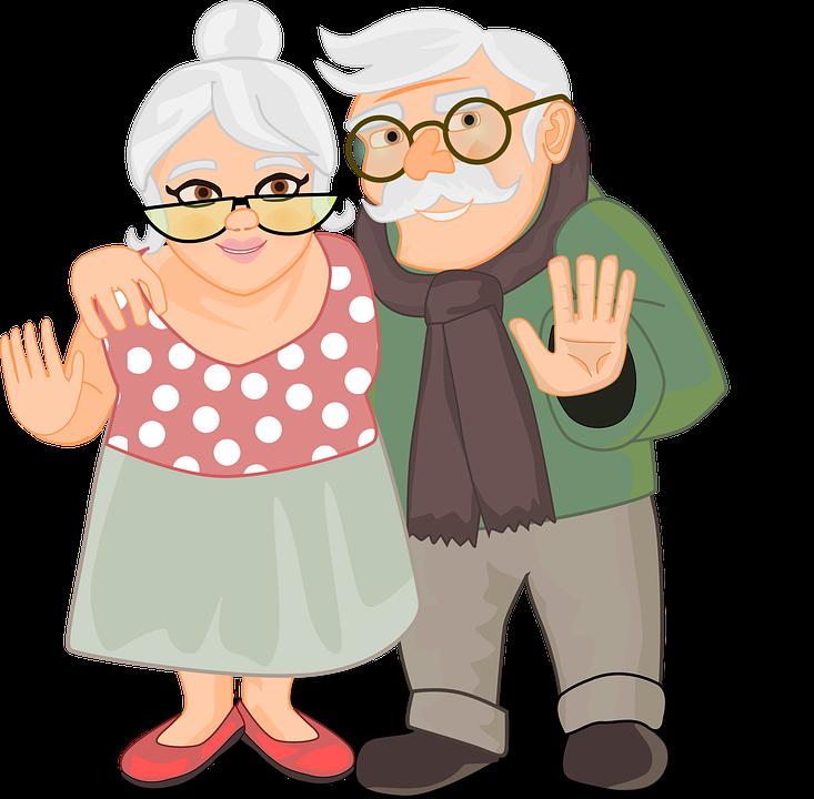 Osoby W Podeszłym Wieku, Para, Babci I Dziadka, Senior