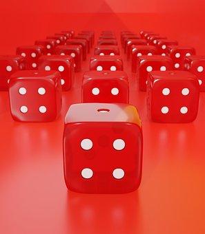 Dice, Gambling, Luck, Random