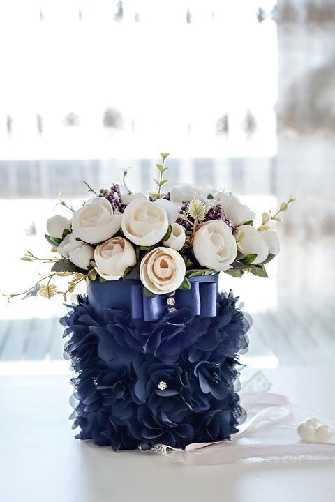 Flowers Dark Blue Vase Bouquet Free Photo On Pixabay