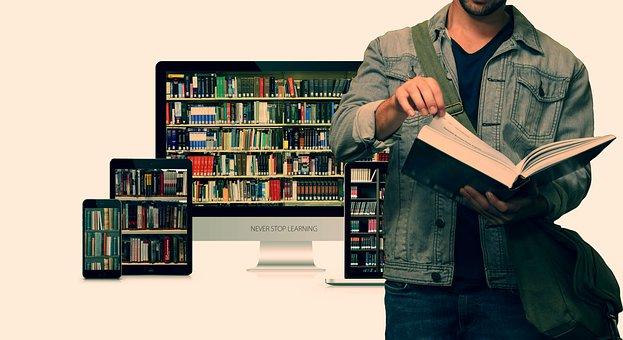 Student, Kniha, Knihovna, Vzdělávání