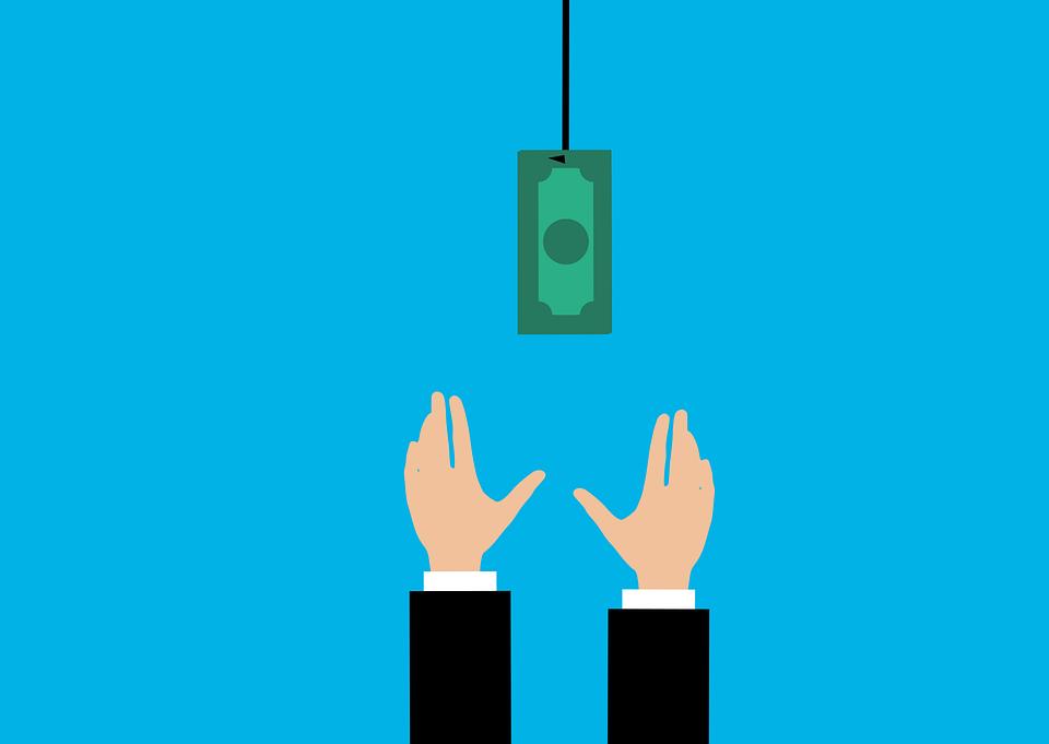 お金, 通貨, ドル, 餌, ビジネス, 実業家, ファイナンス, 釣り, 詐欺, ぶら下げ, フック