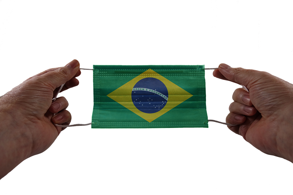 Máscara, Máscara Facial, Pavilhão, Mãos, Brasil, Vírus