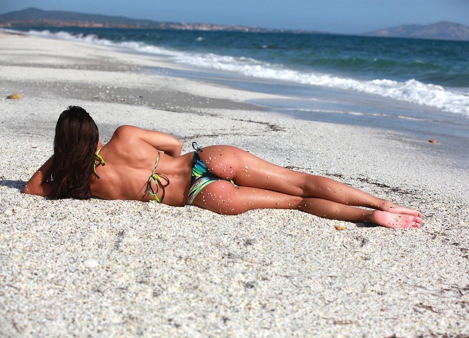 Woman, Swimsuit, Swimwear, Beach, Sea, Bikini, Water