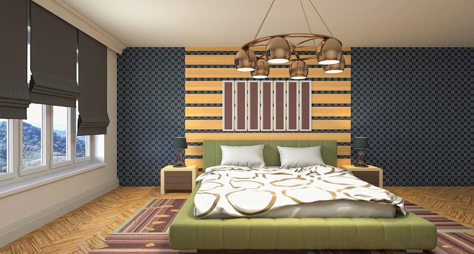 Спалня, Интериорен Дизайн, 3D Визуализация, Стая