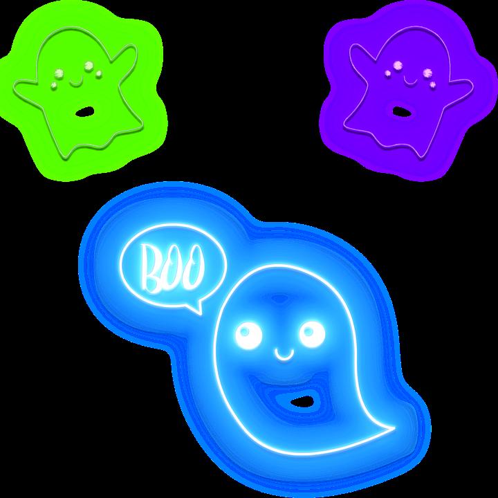 halloween hantu neon lampu gambar gratis di pixabay halloween hantu neon lampu gambar