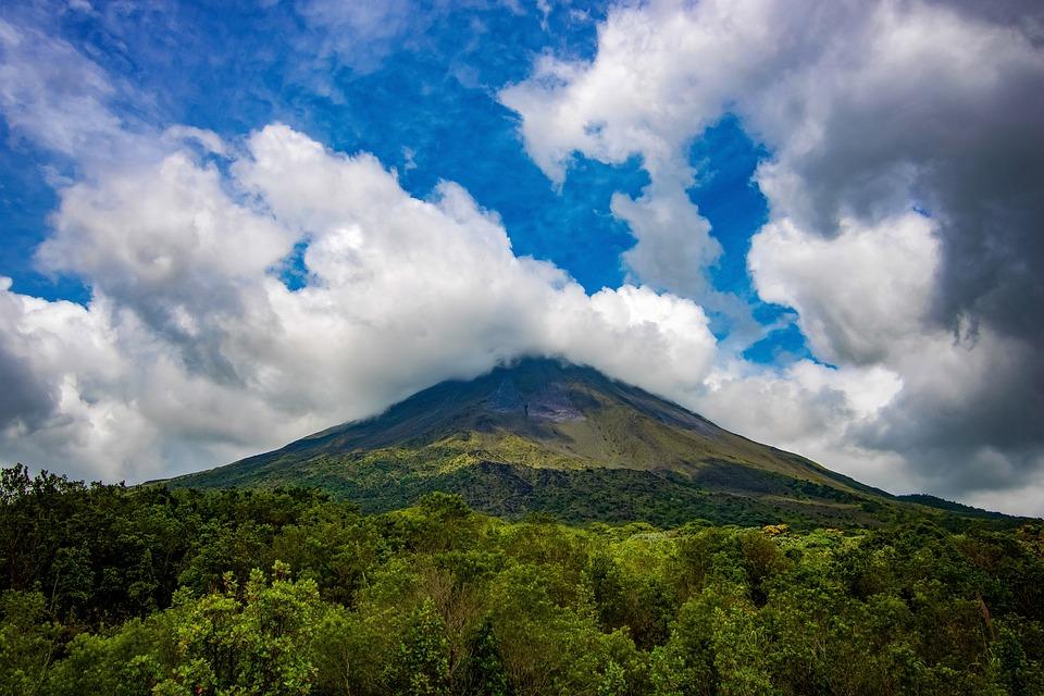 Landscape, Volcano, Mountain, Countryside, Scenery