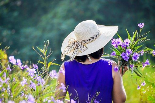 紫のドレス, 紫の花, 女の子, 女性, アジアの女の子, ベトナムの少女|アインの集客マーケティングブログ