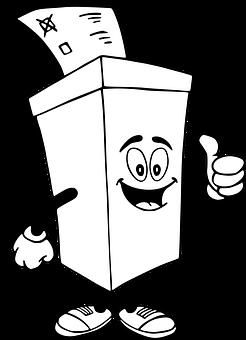 Urna Wyborcza, Wybory, Głosować, Rysunek