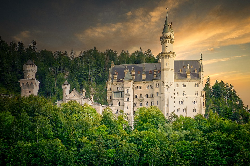 Castle, Palace, Building, Mountain, Old, Architecture