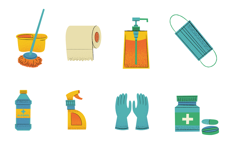Clipart of cleaning supplies