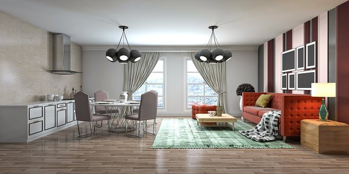 Room, Interior Design, 3D Rendered