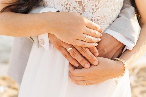 Hand, Wedding, Marriage, Couple, Love