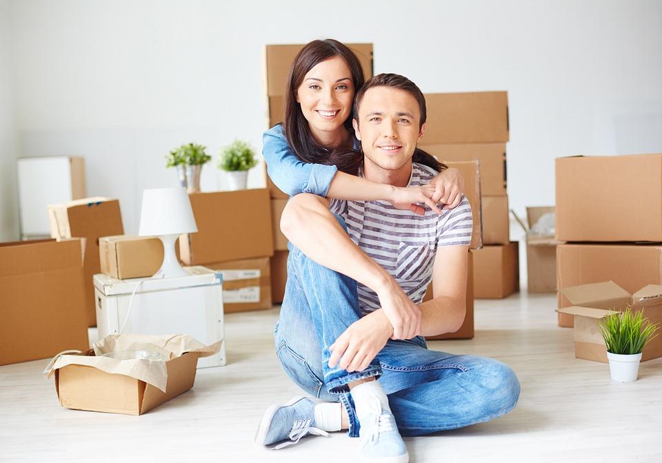 ホーム, 家, 家族, 夫と妻, カップル, ボックス, 愛, 夢, 新居, 新しい家