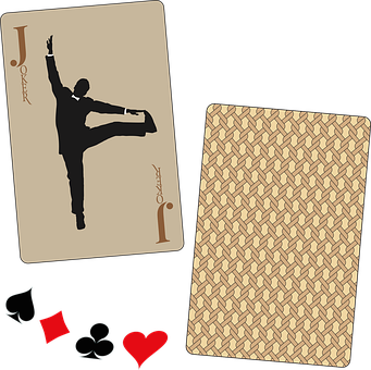 Playing Cards, Joker, Dancer, Silhouette
