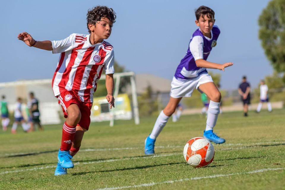 Fodbold, Bold, Løb, Løbende Drenge, Spillere