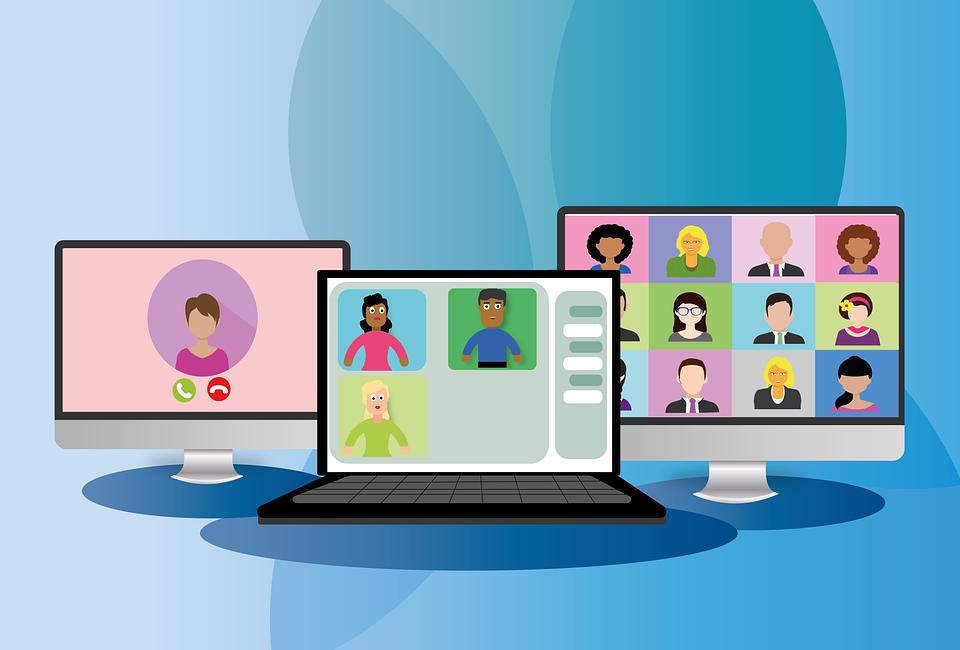 Videokonferenz, Online-Meeting, Telefonkonferenz, Icon