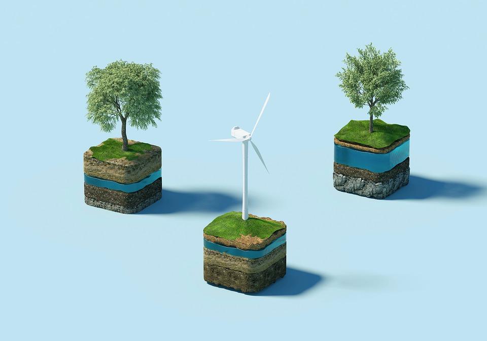 Vindmølle, Trær, Bærekraft, Natur, Miljø, Økologi