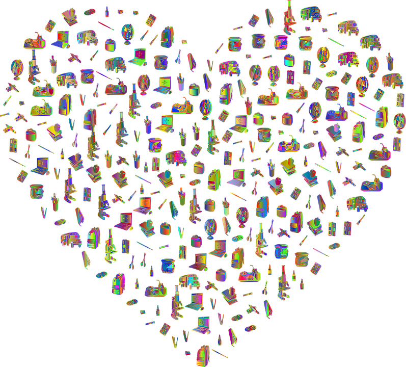 Сърце, Училище, Обичам, Образование, Рама, Граница