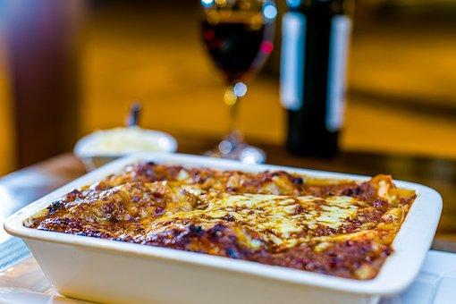 Maaltijd, Schotel, Plaat, Pasta, Lasagne