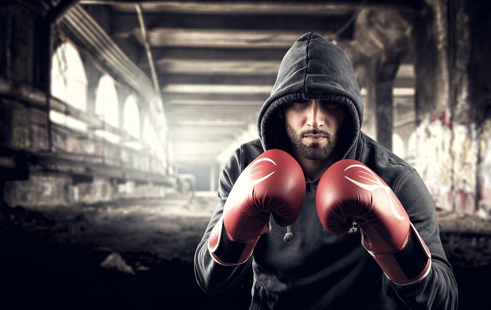 Mann, Boxer, Kickboksing, Kampen, Treningsstudio