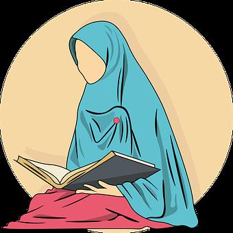 Wanita, Buku, Quran, Ramadan, Berdoa