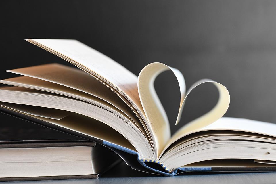 책, 심장, 페이지, 문학, Hardbound, 두꺼운 표지의 책, 사랑