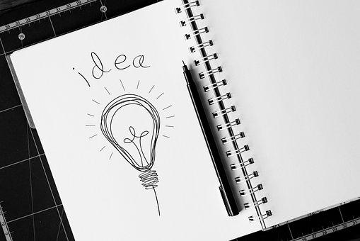 Idea, Concept, Light Bulb, Sketch