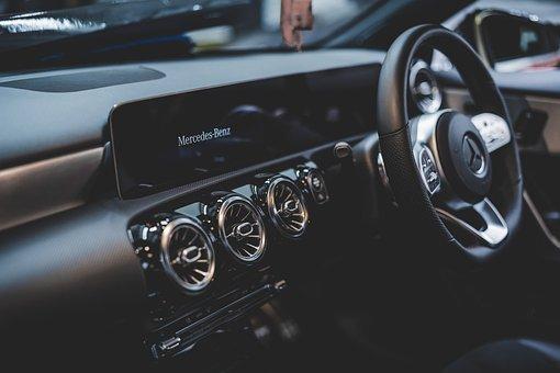 車, メルセデス ・ ベンツ, ステアリング ホイール, パネル