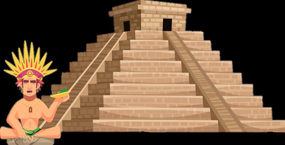 Azteekse, Maya, Tempel, Architectuur, Monument