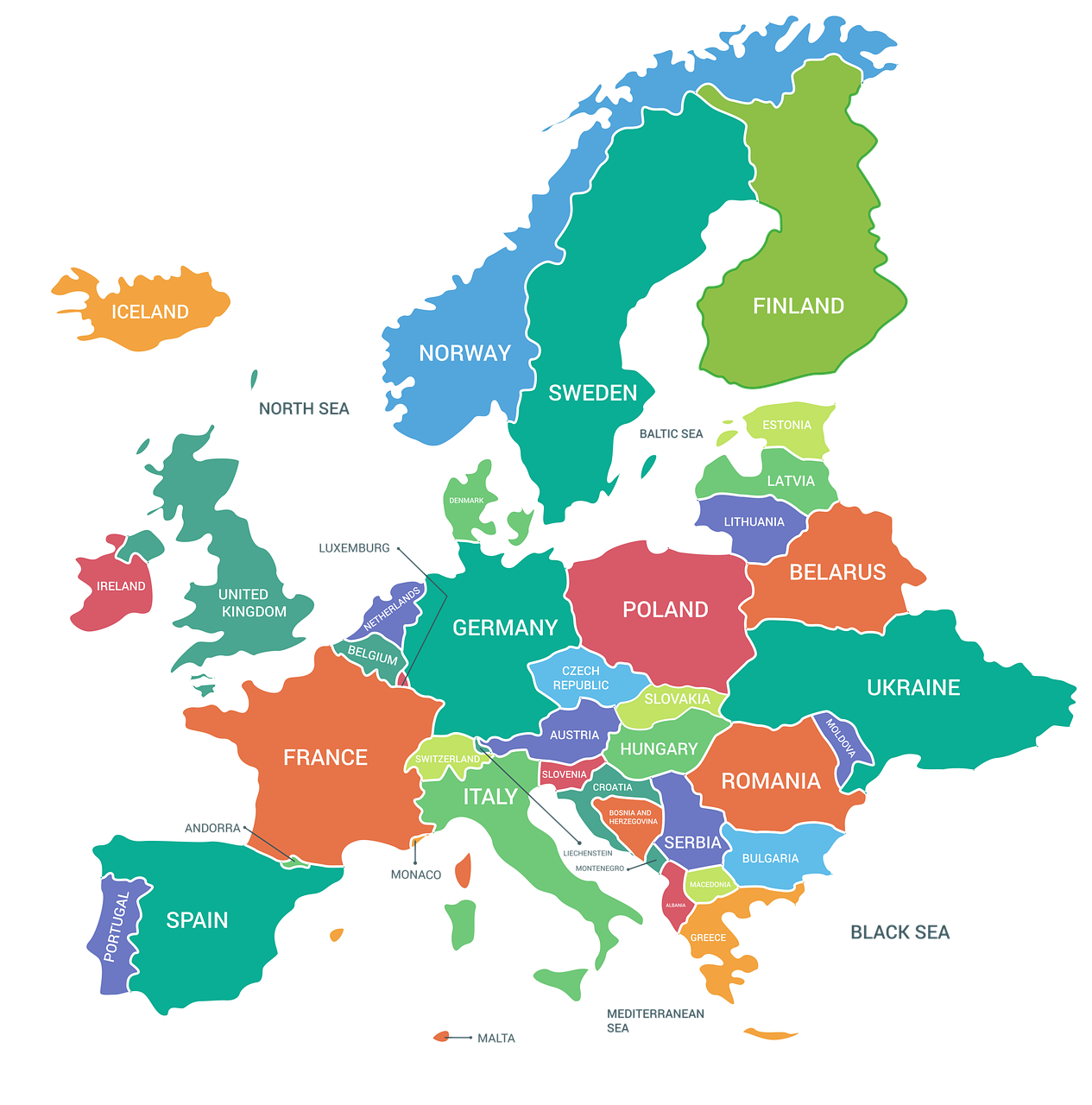 Image of: Map Europe Continent Free Image On Pixabay